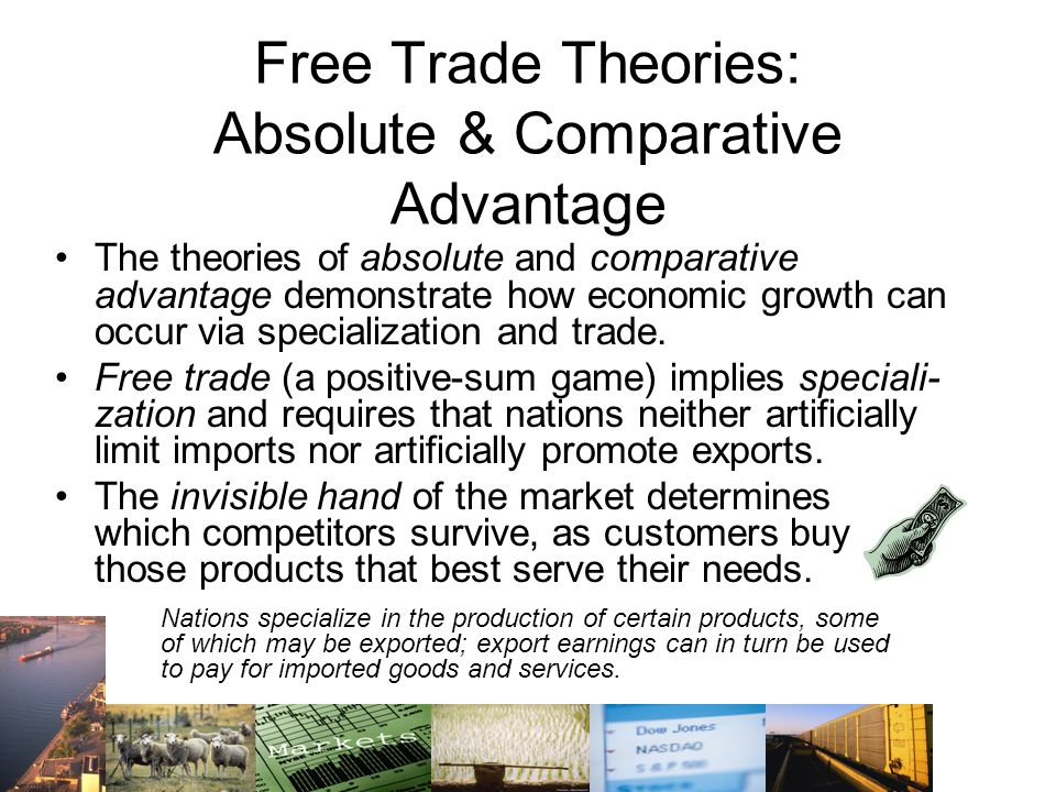 Free Trade Theories: Absolute & Comparative Advantage