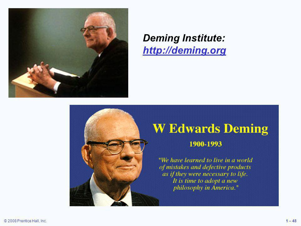 Deming Institute: http://deming.org