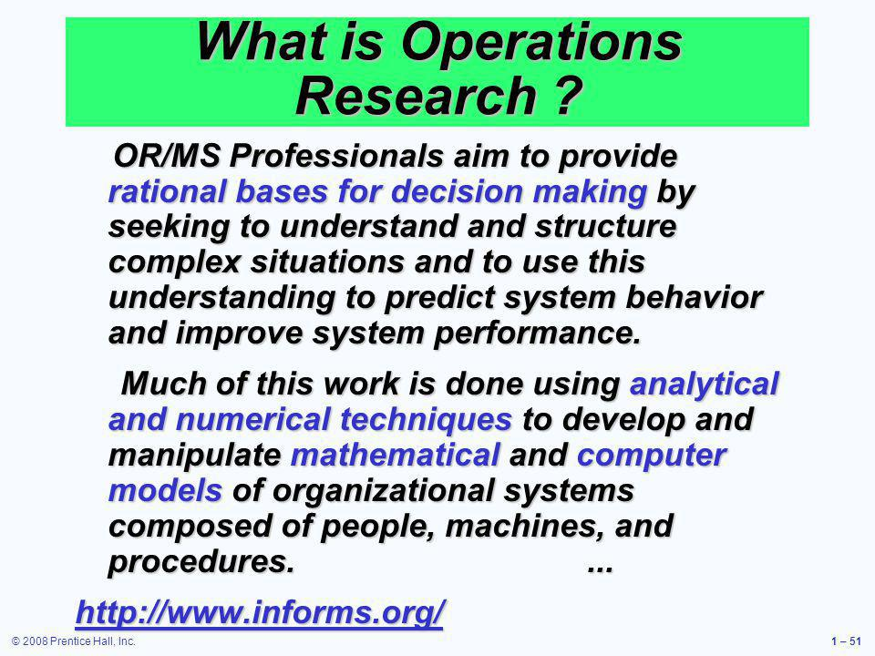 What is Operations Research