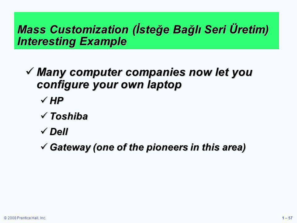 Mass Customization (İsteğe Bağlı Seri Üretim) Interesting Example