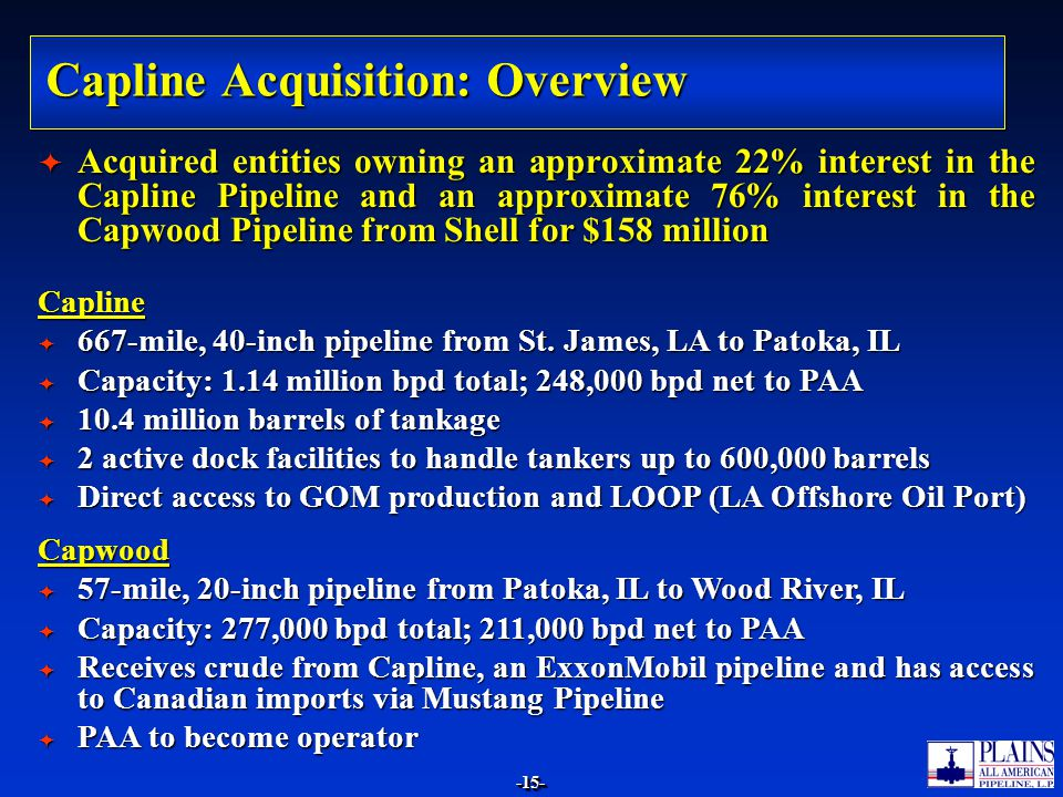 Capline Acquisition: Overview
