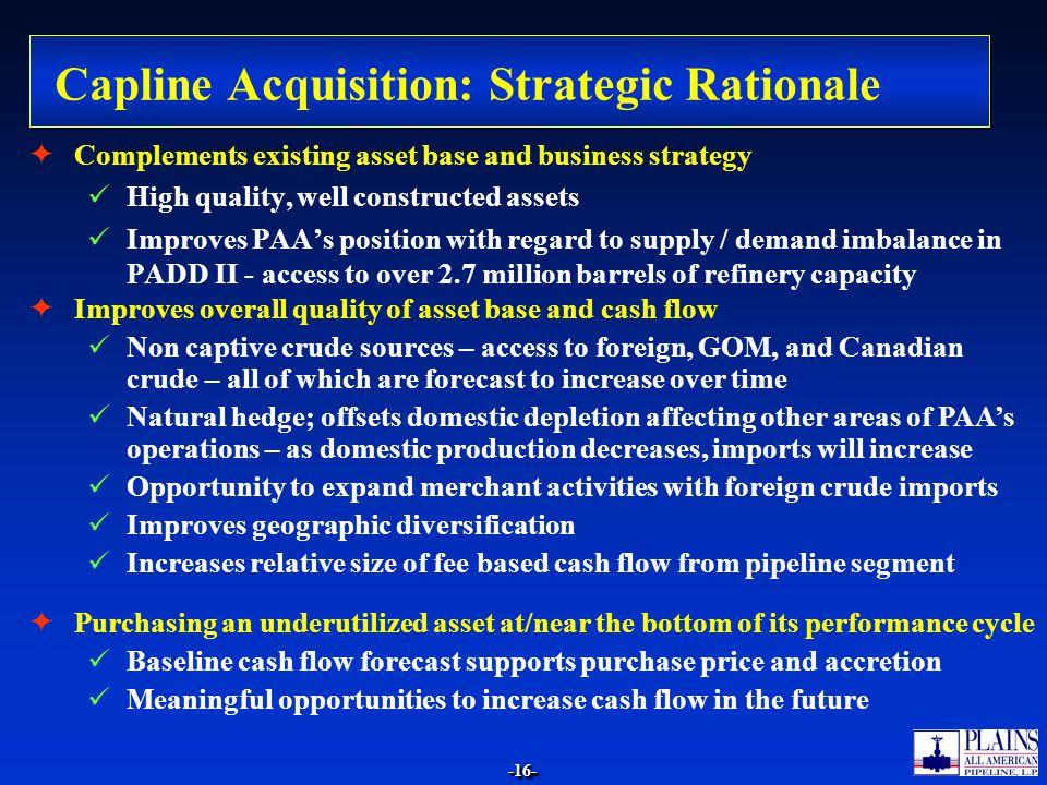 Capline Acquisition: Strategic Rationale