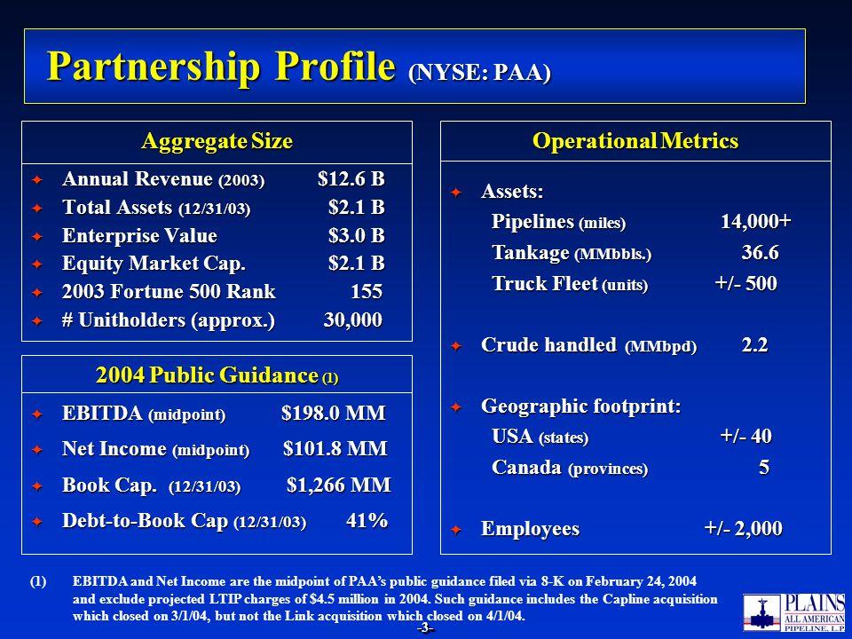 Partnership Profile (NYSE: PAA)