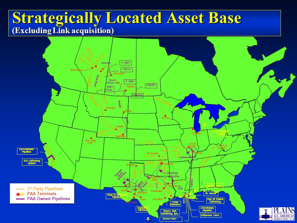 Strategically Located Asset Base (Excluding Link acquisition)