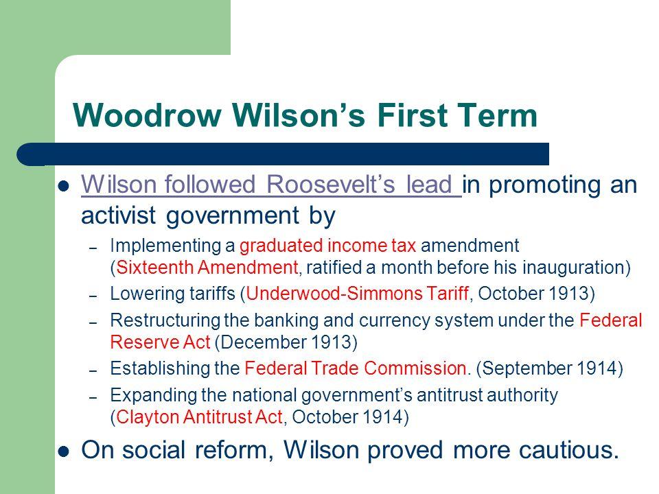 Woodrow Wilson's First Term