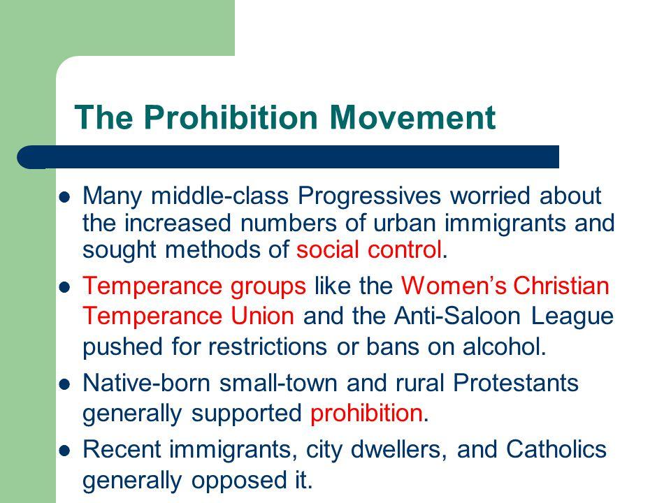 The Prohibition Movement