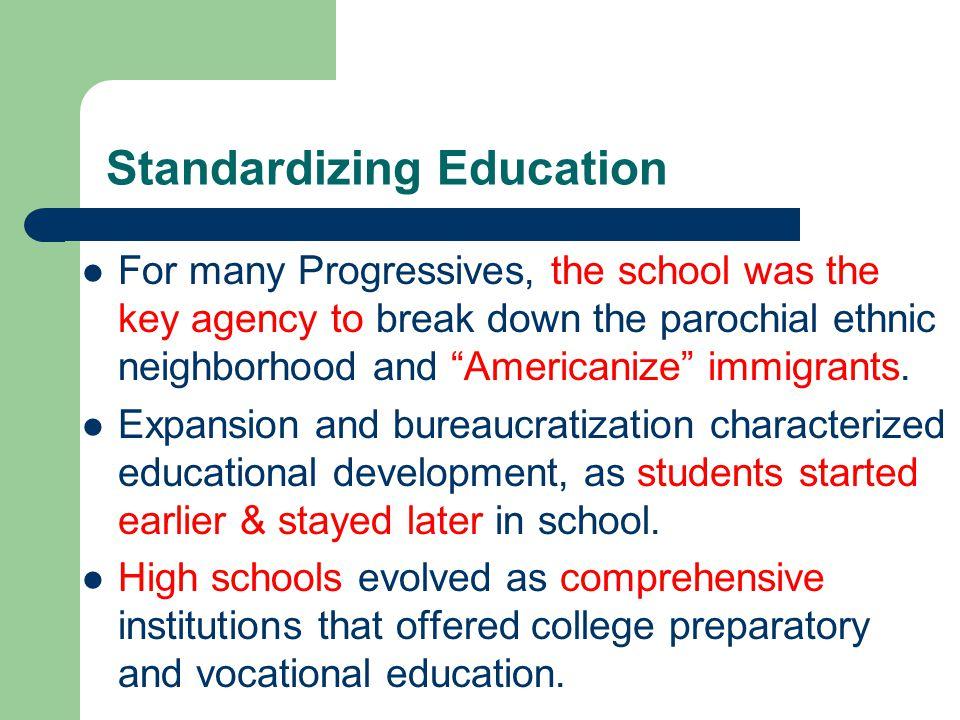 Standardizing Education
