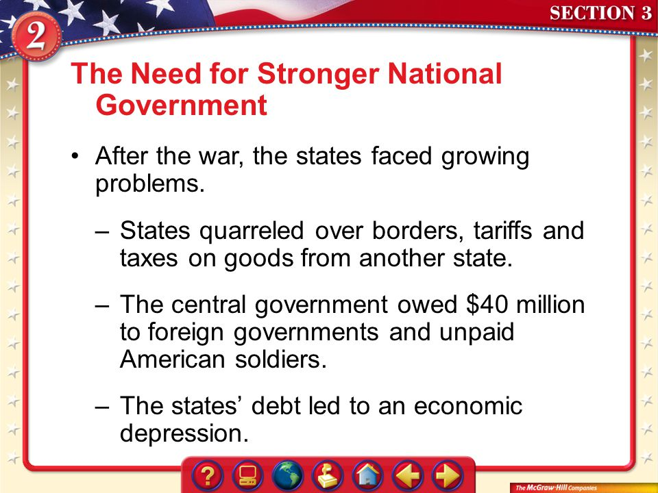 The Need for Stronger National Government