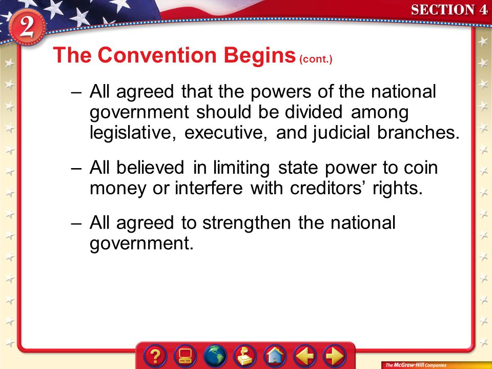 The Convention Begins (cont.)