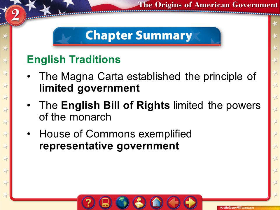 The Magna Carta established the principle of limited government