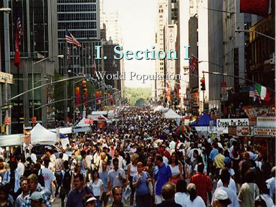 I. Section I World Population