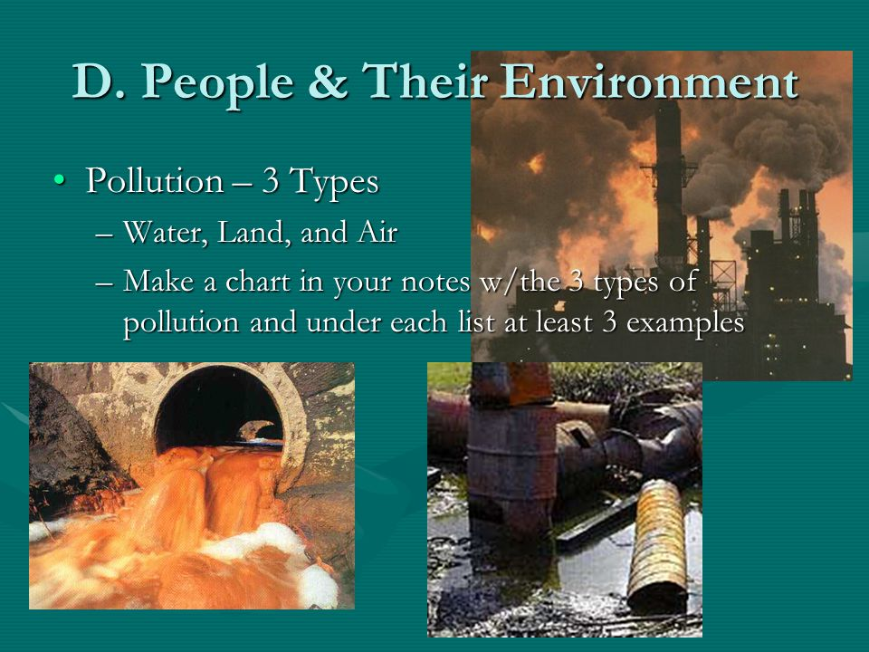 D. People & Their Environment