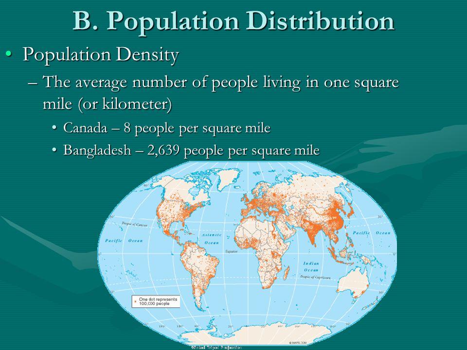 B. Population Distribution