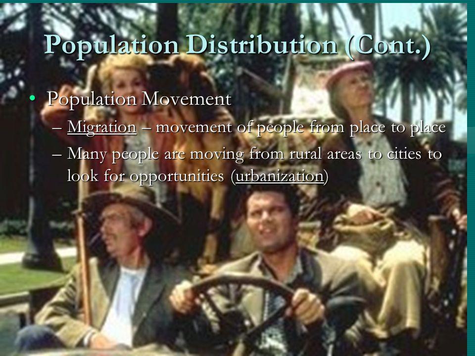 Population Distribution (Cont.)