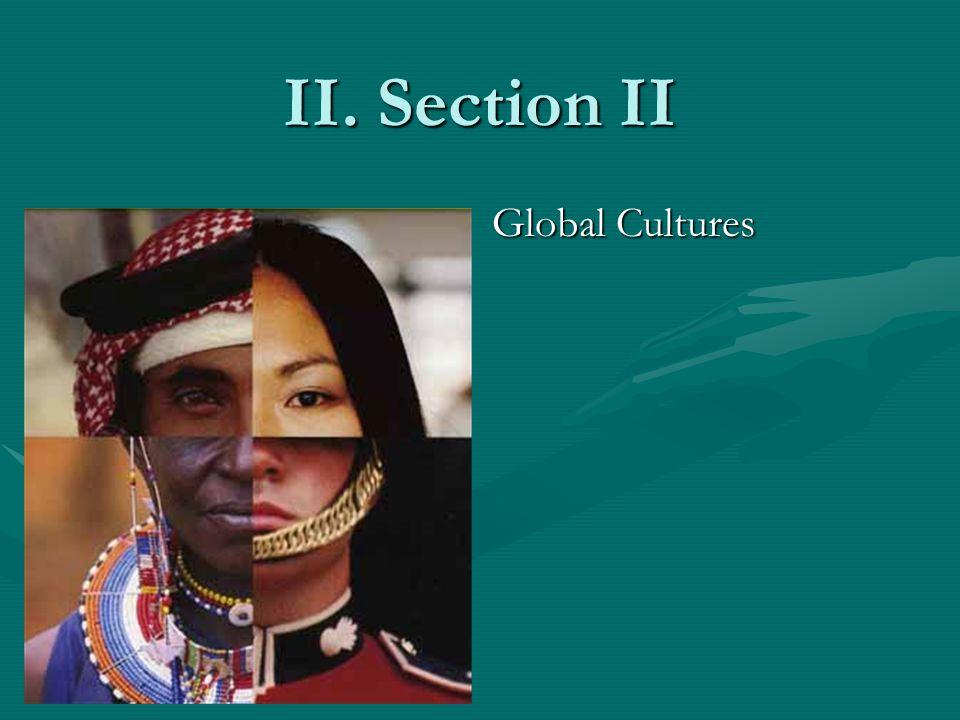 II. Section II Global Cultures