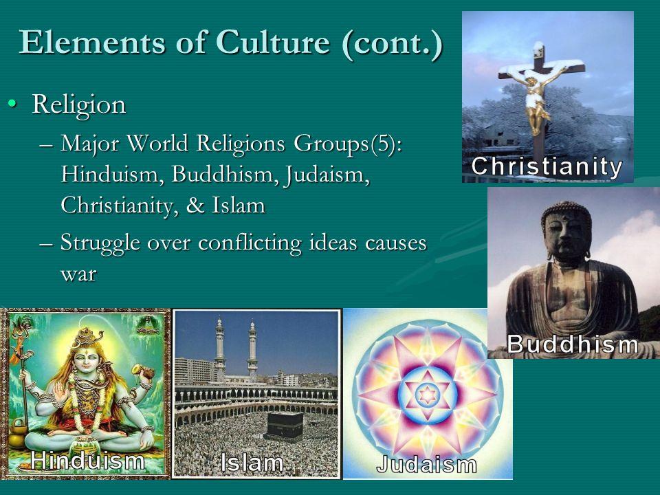 Elements of Culture (cont.)