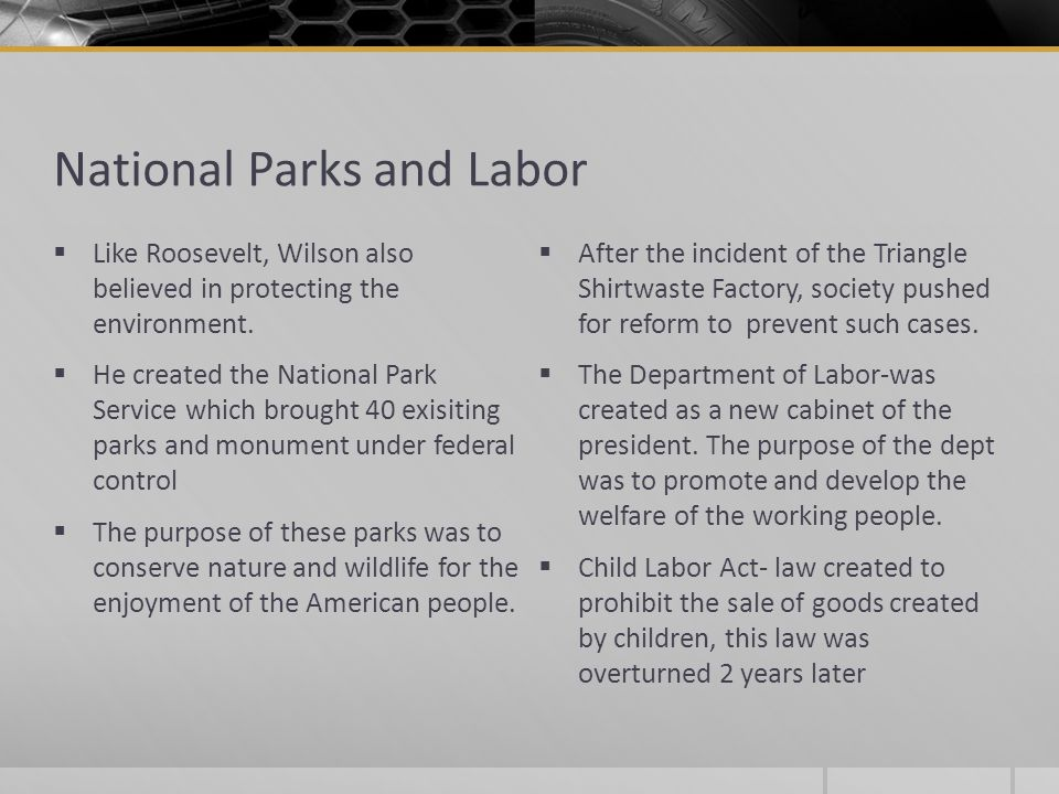 National Parks and Labor