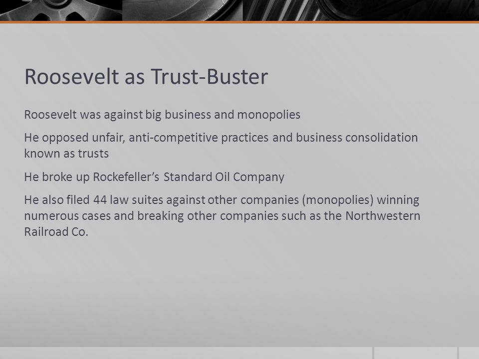 Roosevelt as Trust-Buster