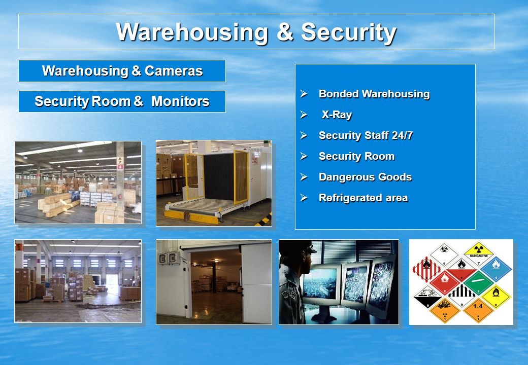 Warehousing & Security Security Room & Monitors