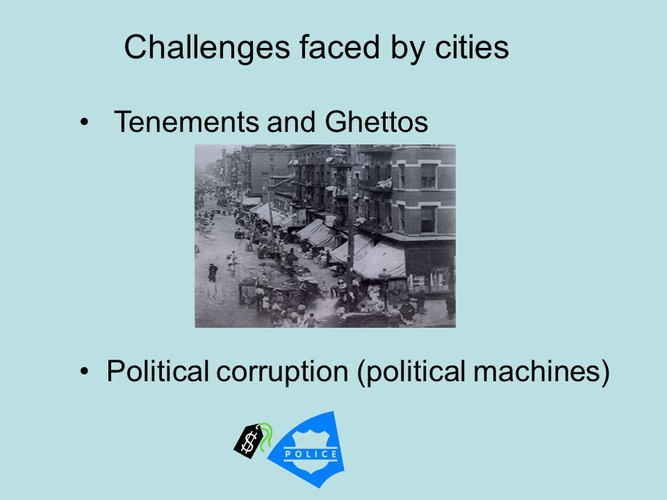 Challenges faced by cities
