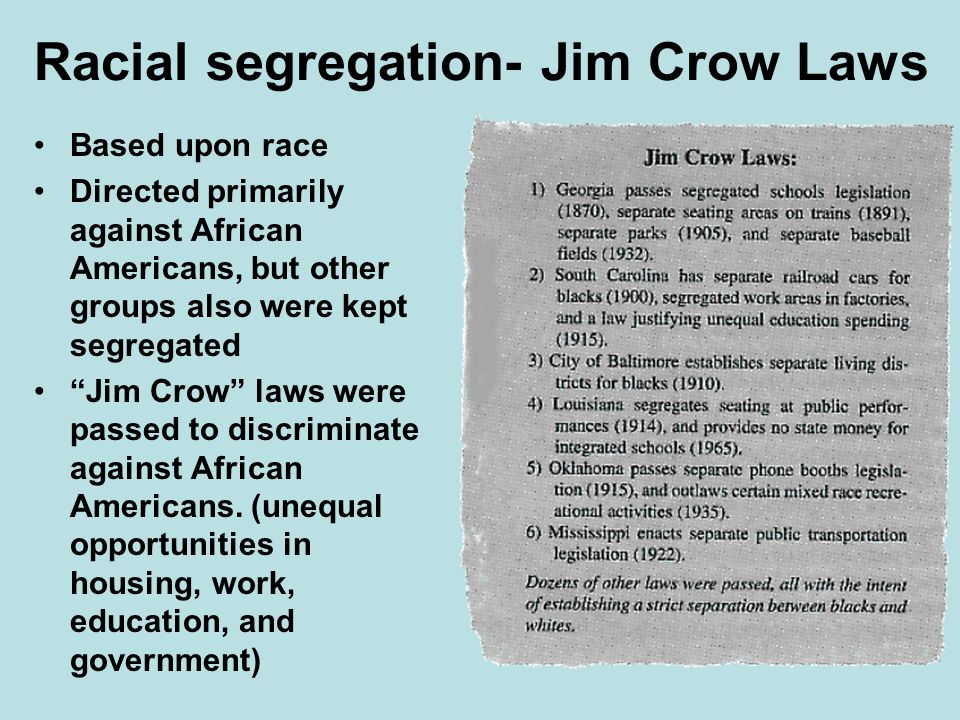 a history of the racial discrimination against african americans in the united states Despite laws and other protections against discrimination, african-americans still face recognize that we are not acting fairly if we treat people differently because of these stereotypes and prejudices at some time in the history of the united states, to the.