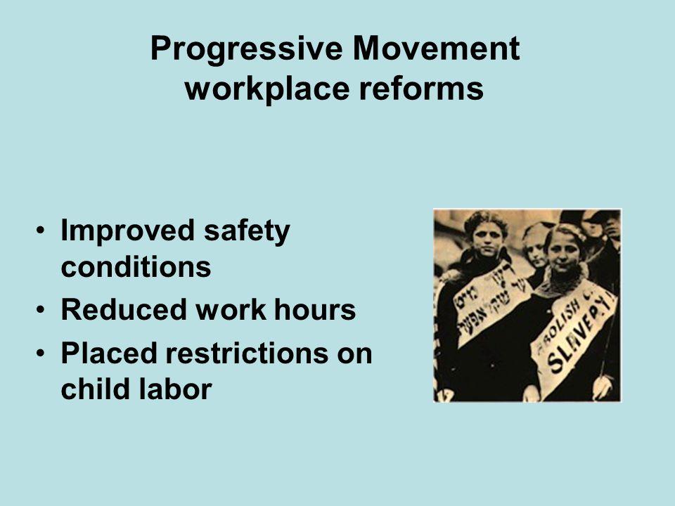 Progressive Movement workplace reforms