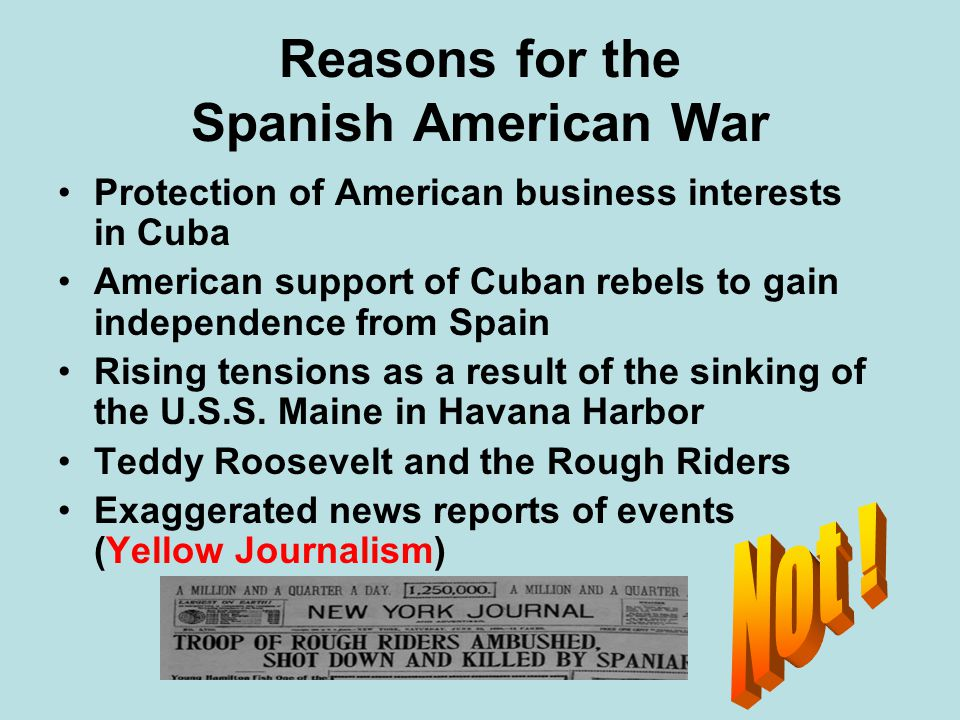 Reasons for the Spanish American War