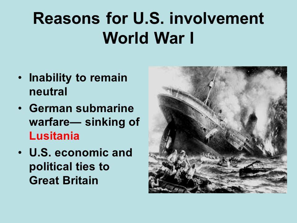 Reasons for U.S. involvement World War I