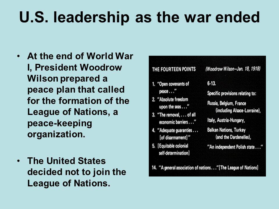 U.S. leadership as the war ended