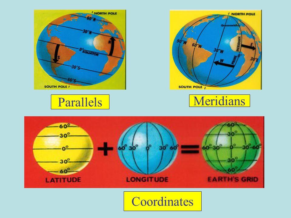 Parallels Meridians Coordinates