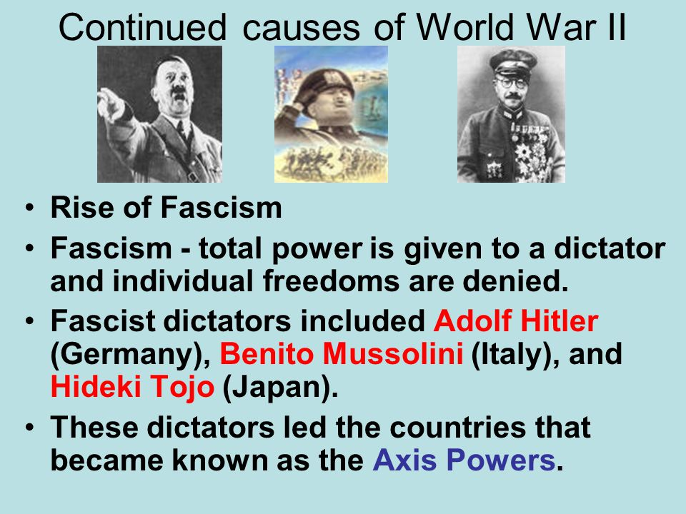Continued causes of World War II