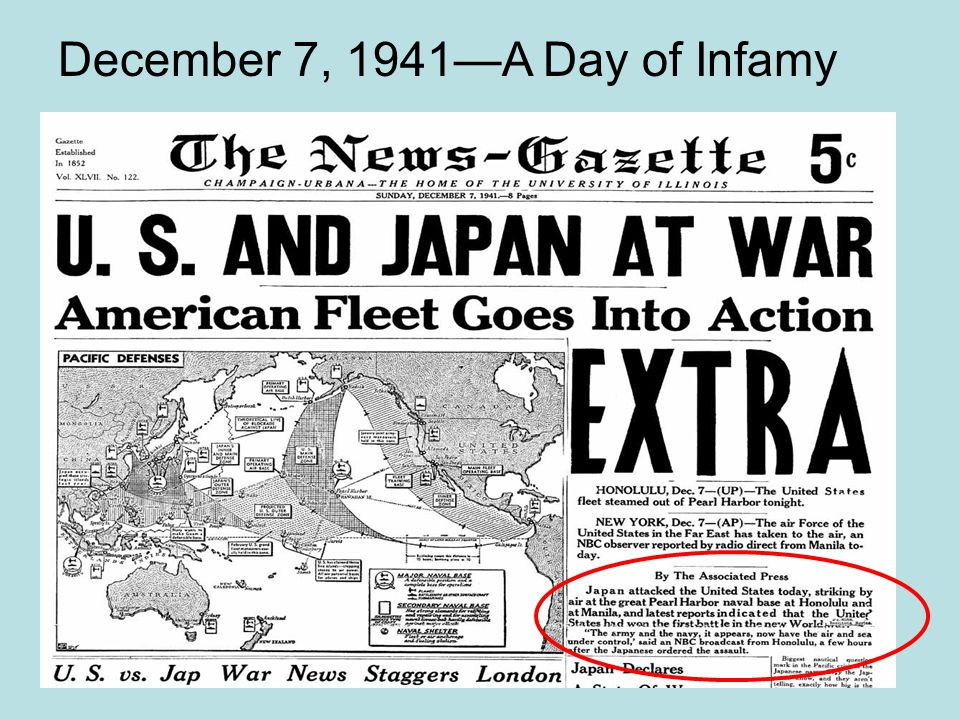 December 7, 1941—A Day of Infamy
