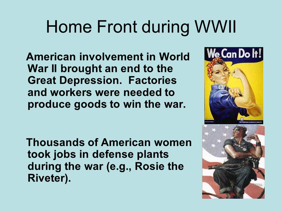 Home Front during WWII