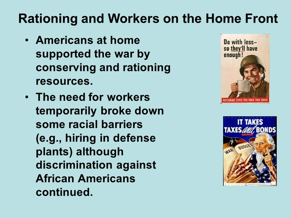 Rationing and Workers on the Home Front