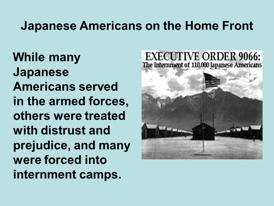 Japanese Americans on the Home Front