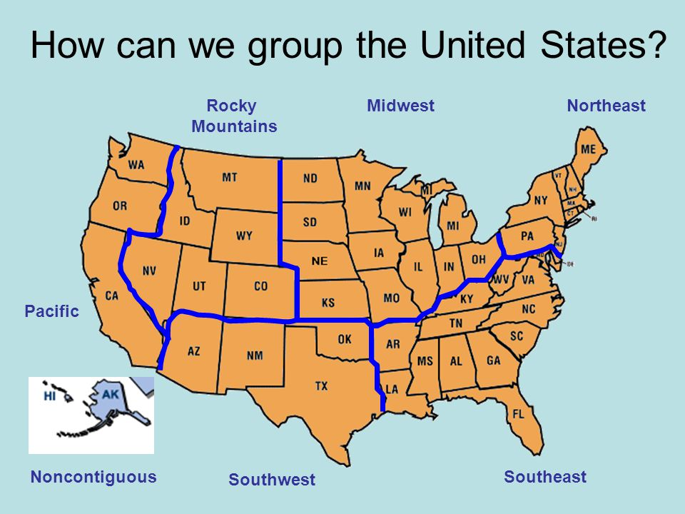How can we group the United States