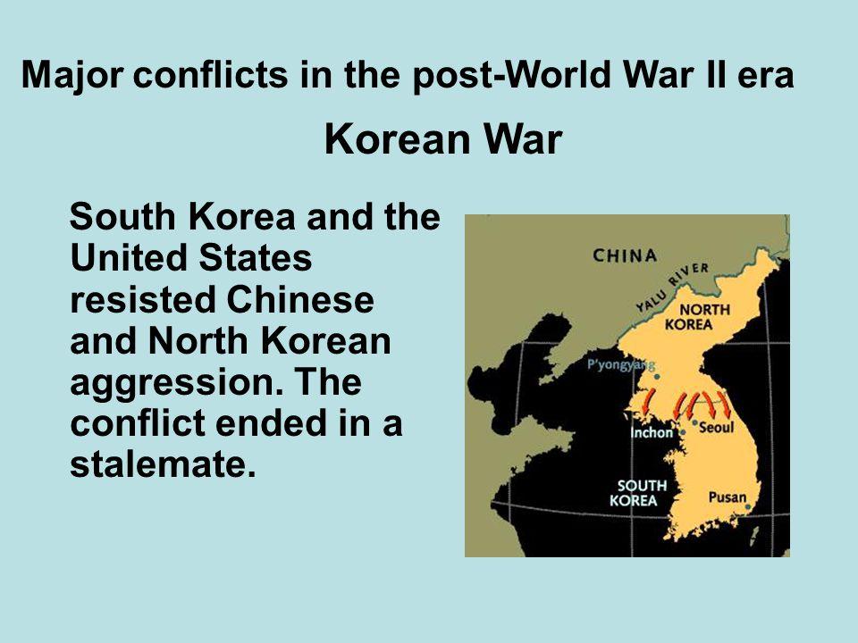 Major conflicts in the post-World War II era