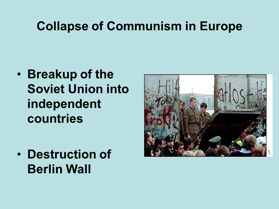 Collapse of Communism in Europe