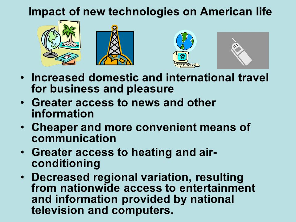Impact of new technologies on American life