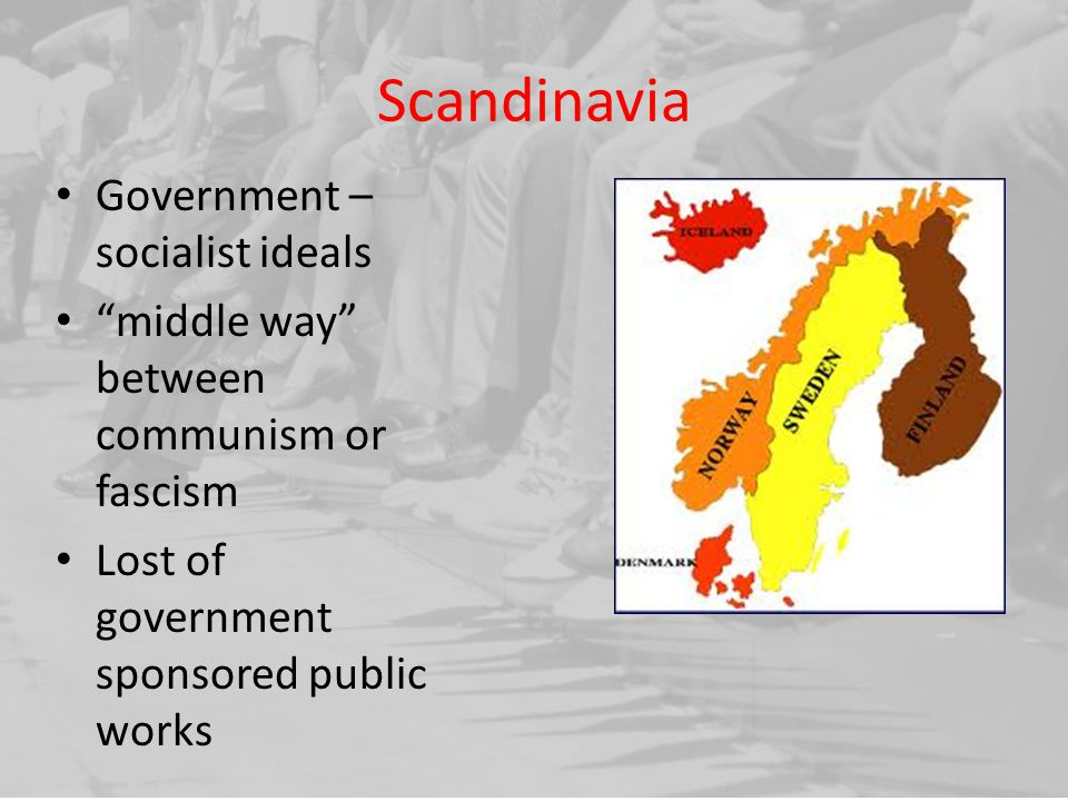 Scandinavia Government – socialist ideals