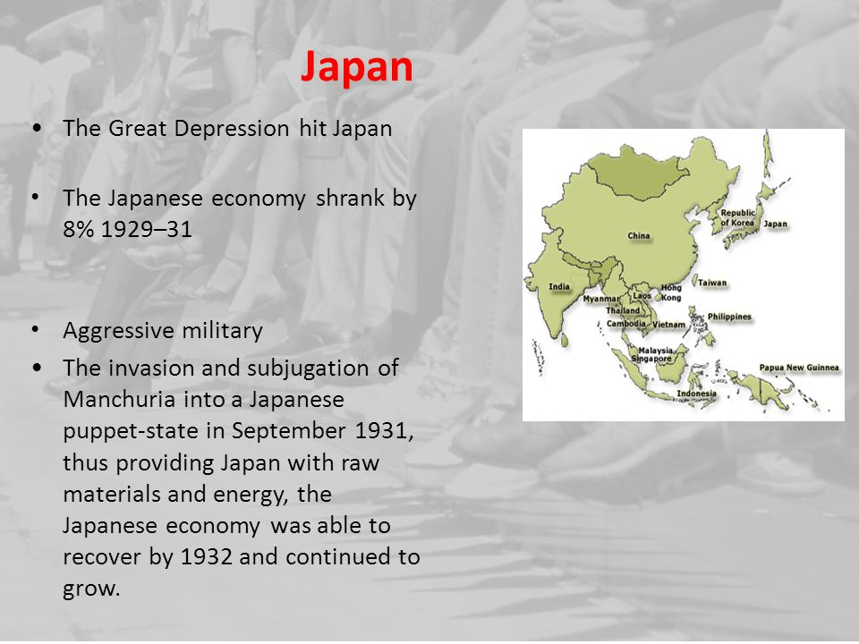 Japan The Great Depression hit Japan