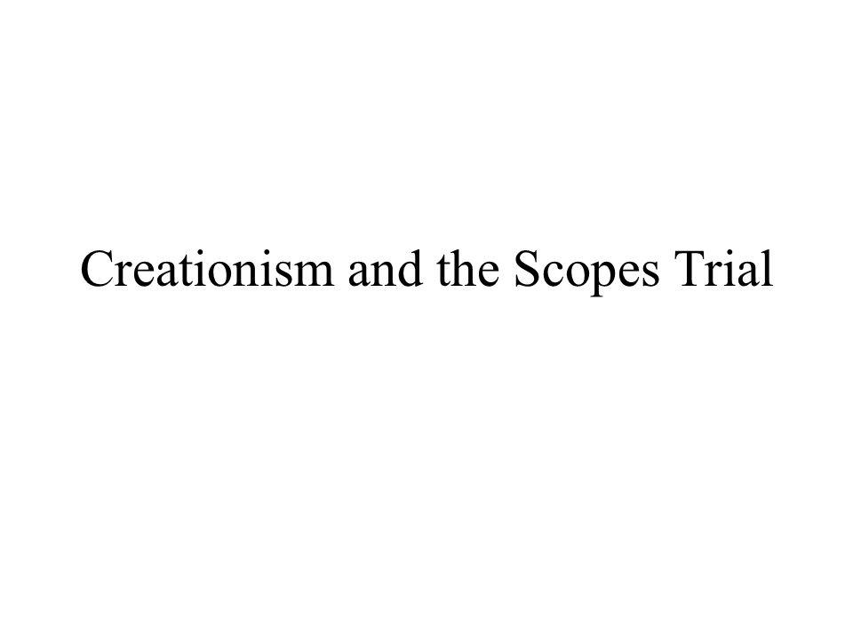 Creationism and the Scopes Trial