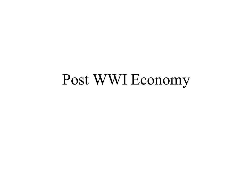 Post WWI Economy