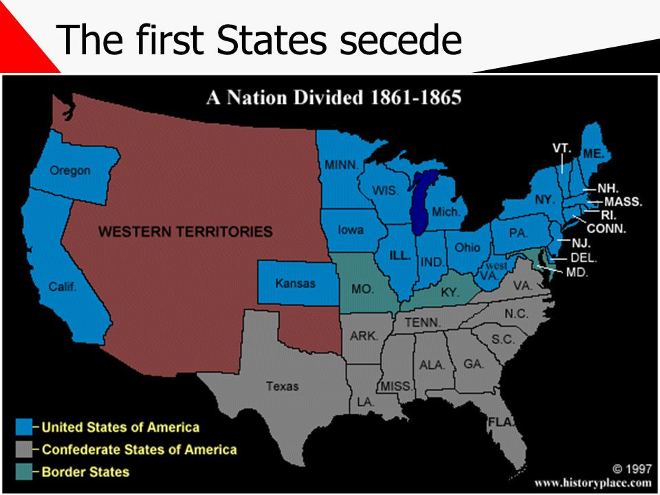 The first States secede