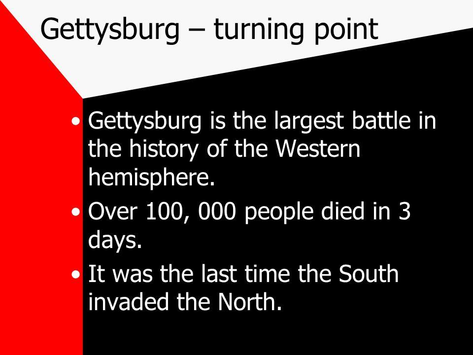 Gettysburg – turning point
