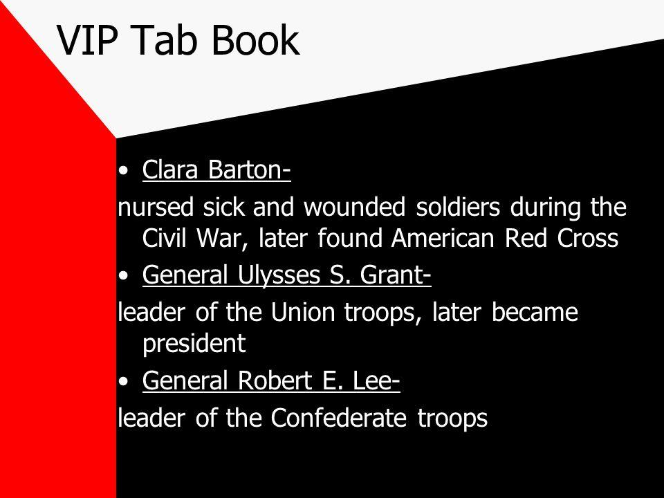 VIP Tab Book Clara Barton-