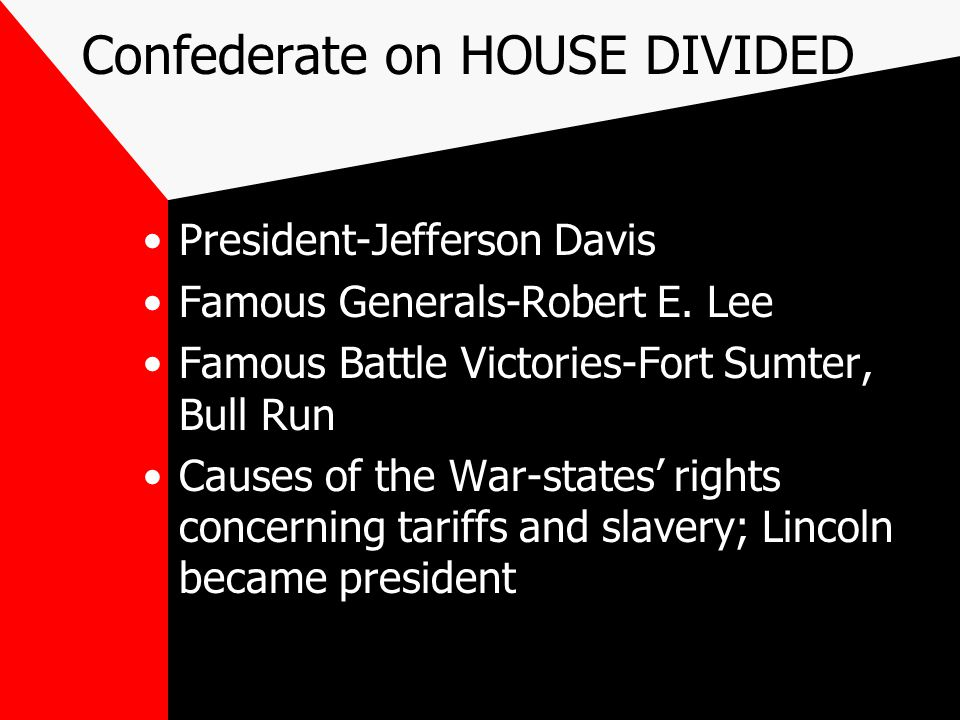Confederate on HOUSE DIVIDED