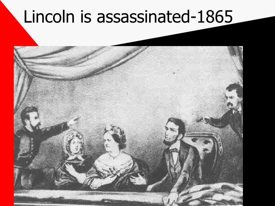 Lincoln is assassinated-1865