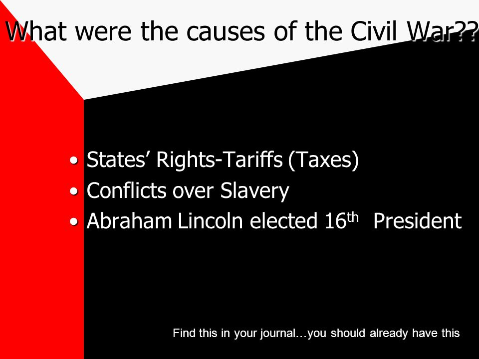 What were the causes of the Civil War