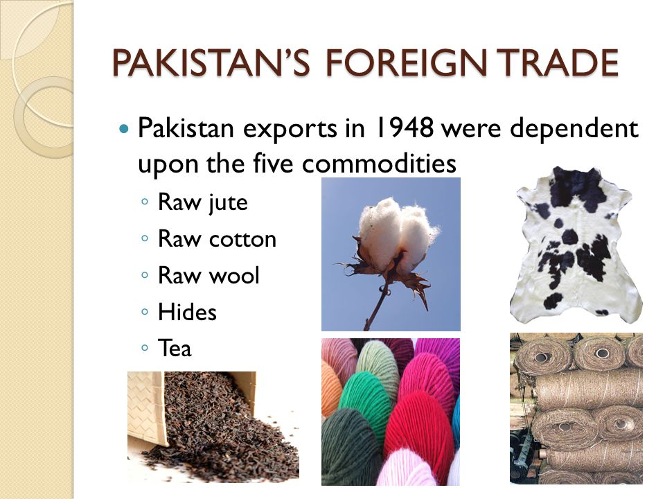 PAKISTAN'S FOREIGN TRADE